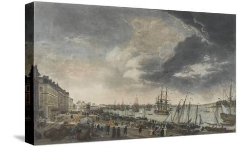 Le port de Bordeaux-Claude Joseph Vernet-Stretched Canvas Print