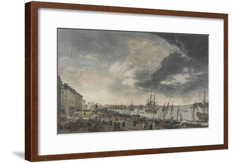 Le port de Bordeaux-Claude Joseph Vernet-Framed Art Print