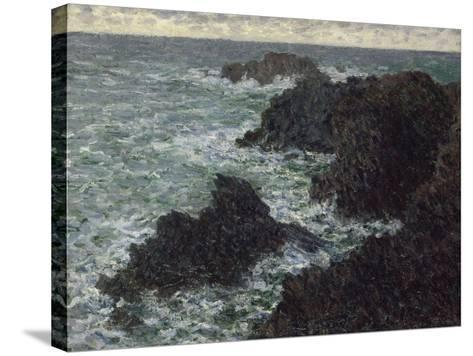 Les rochers de Belle-île, la Côte sauvage-Claude Monet-Stretched Canvas Print