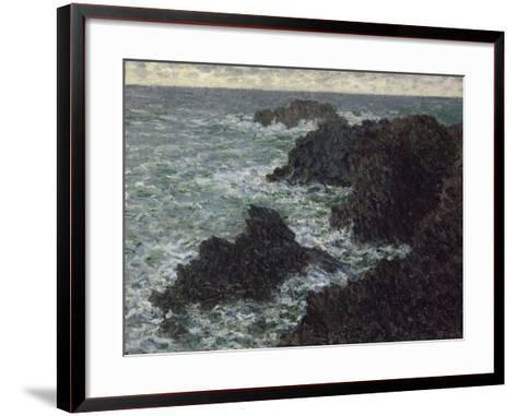 Les rochers de Belle-île, la Côte sauvage-Claude Monet-Framed Art Print