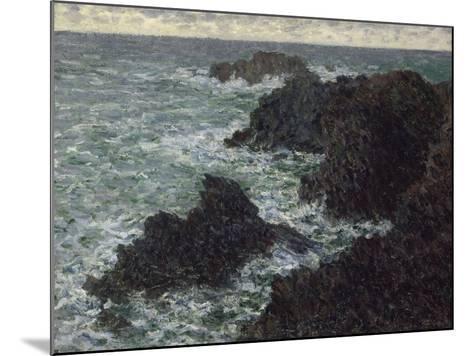 Les rochers de Belle-île, la Côte sauvage-Claude Monet-Mounted Giclee Print