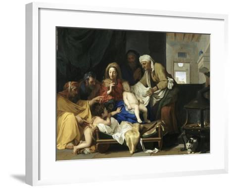 Le Sommeil de l'Enfant Jésus-Charles Le Brun-Framed Art Print