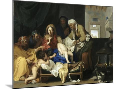 Le Sommeil de l'Enfant Jésus-Charles Le Brun-Mounted Giclee Print
