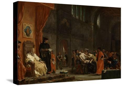 Les deux Foscari-Eugene Delacroix-Stretched Canvas Print