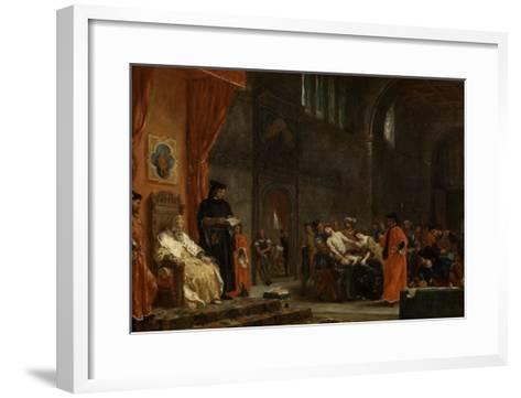 Les deux Foscari-Eugene Delacroix-Framed Art Print