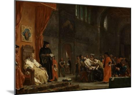 Les deux Foscari-Eugene Delacroix-Mounted Giclee Print