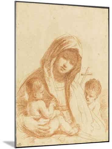 La Vierge à l'Enfant avec le petit saint Jean-Guerchin Le-Mounted Giclee Print