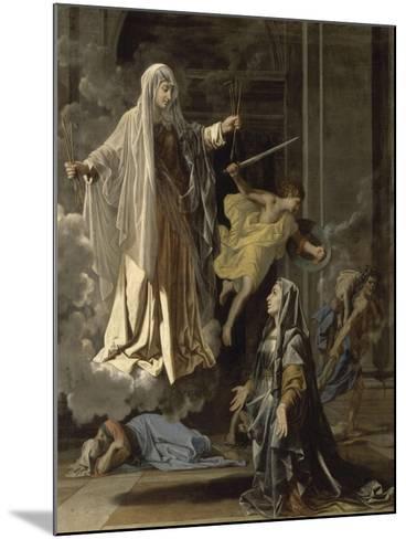 La vision de Sainte Françoise Romaine-Nicolas Poussin-Mounted Giclee Print