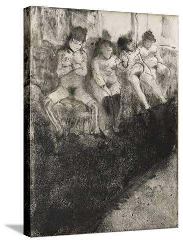 L'attente (seconde version)-Edgar Degas-Stretched Canvas Print