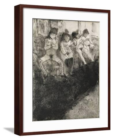 L'attente (seconde version)-Edgar Degas-Framed Art Print