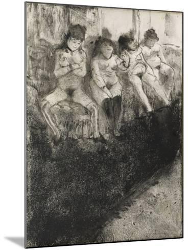 L'attente (seconde version)-Edgar Degas-Mounted Giclee Print
