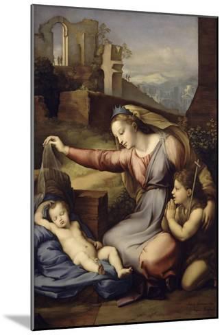 La Vierge au voile bleu-Raffaello Sanzio-Mounted Giclee Print
