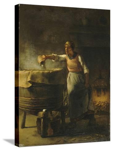 La Lessiveuse-Jean-Fran?ois Millet-Stretched Canvas Print