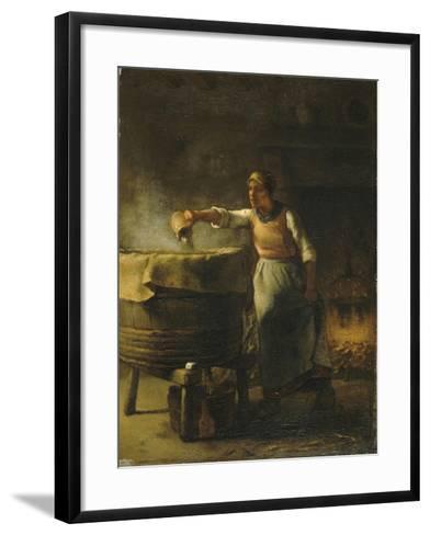 La Lessiveuse-Jean-Fran?ois Millet-Framed Art Print