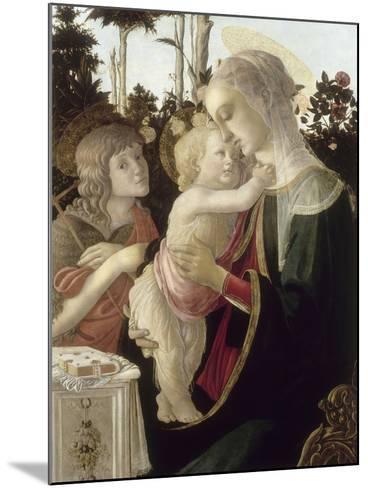 La Vierge et l'Enfant avec Saint Jean-Baptiste enfant-Sandro Botticelli-Mounted Giclee Print