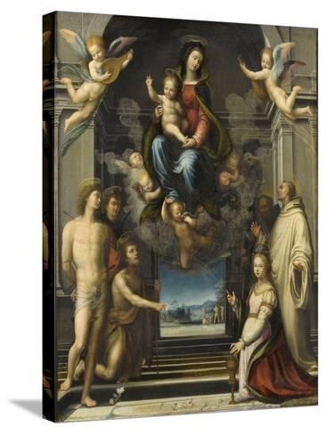 La Vierge de Ferry Carondelet-Fra Bartolommeo-Stretched Canvas Print