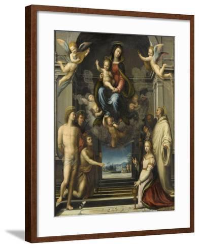 La Vierge de Ferry Carondelet-Fra Bartolommeo-Framed Art Print