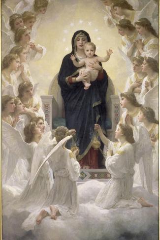 La Vierge aux anges-William Adolphe Bouguereau-Stretched Canvas Print