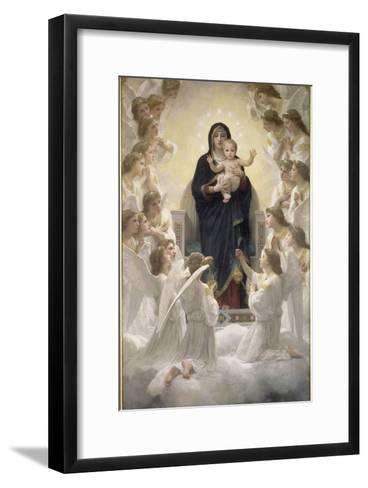 La Vierge aux anges-William Adolphe Bouguereau-Framed Art Print