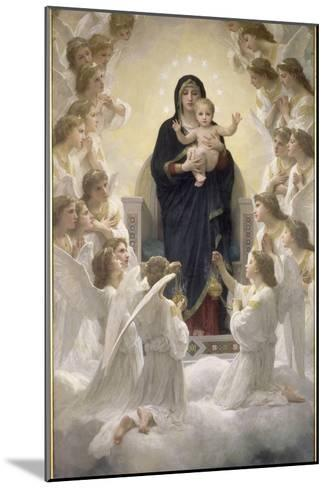 La Vierge aux anges-William Adolphe Bouguereau-Mounted Giclee Print