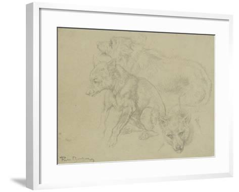 Trois études de loups-Rosa Bonheur-Framed Art Print