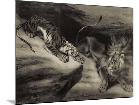 L'attaque du tigre-Louis Boulanger-Mounted Giclee Print