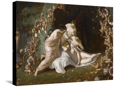 Titania endormie-Richard Dadd-Stretched Canvas Print