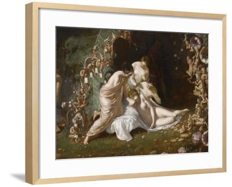 Titania endormie-Richard Dadd-Framed Art Print