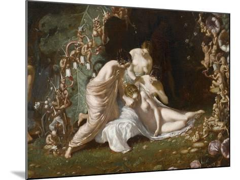 Titania endormie-Richard Dadd-Mounted Giclee Print