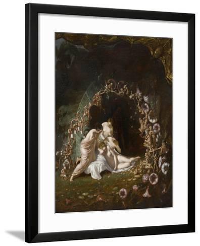 Titania endormie-Richard Dadd-Framed Art Print