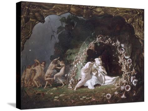 Titania endormie-Richard Dadd-Stretched Canvas Print