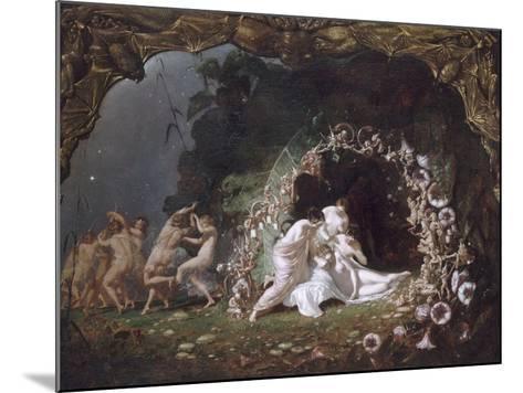 Titania endormie-Richard Dadd-Mounted Giclee Print