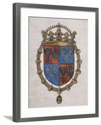Thème d'astrologie judiciaire--Framed Art Print