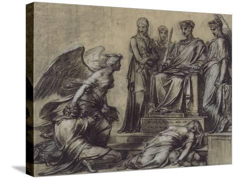 Thémis et Némésis-Pierre Paul Prud'hon-Stretched Canvas Print