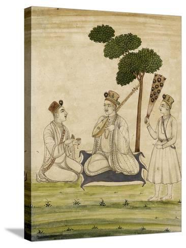 Trois religieuse krisnaïtes--Stretched Canvas Print