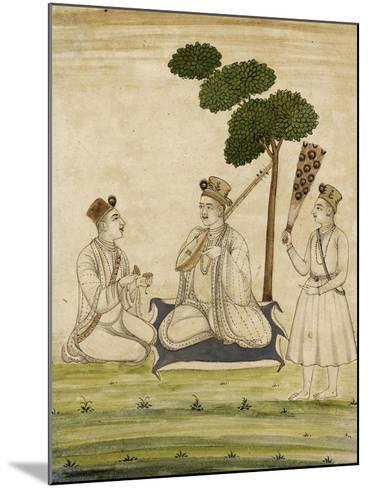 Trois religieuse krisnaïtes--Mounted Giclee Print