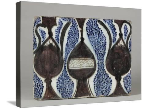 Carreau à décor de vase et pichets--Stretched Canvas Print