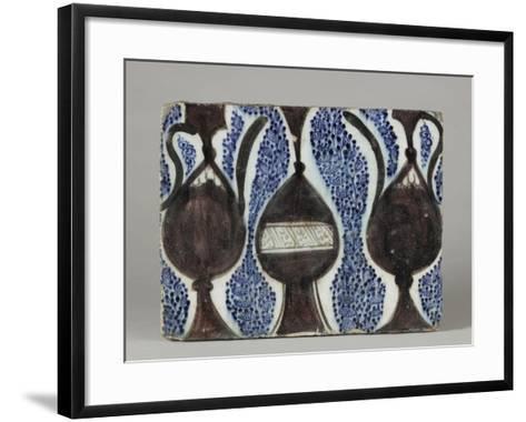 Carreau à décor de vase et pichets--Framed Art Print