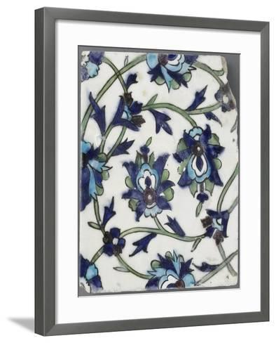 Carreau à décor floral--Framed Art Print