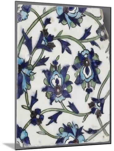 Carreau à décor floral--Mounted Giclee Print