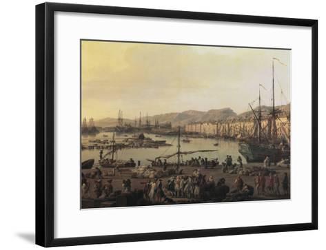 Troisième vue de Toulon, vue du vieux port, prise du côté des magasins au vivres-Claude Joseph Vernet-Framed Art Print