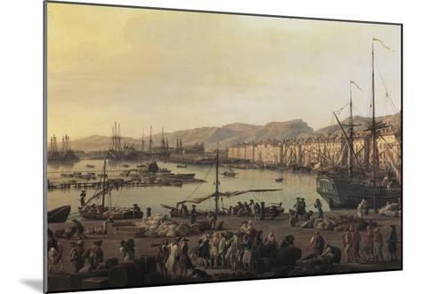 Troisième vue de Toulon, vue du vieux port, prise du côté des magasins au vivres-Claude Joseph Vernet-Mounted Giclee Print