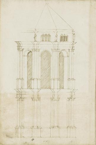Projet de transformation du choeur de la cathédrale de Bamberg-Herman Vischer-Stretched Canvas Print