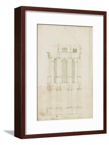 Projet de transformation du choeur de la cathédrale de Bamberg-Herman Vischer-Framed Art Print