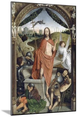 Triptyque de la résurrection (Résurrection, Martyre de Saint Sébastien, l'Ascencion)-Hans Memling-Mounted Giclee Print
