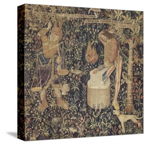 Tubalcaïn, l'invention de la pesée et de l'art de forger--Stretched Canvas Print