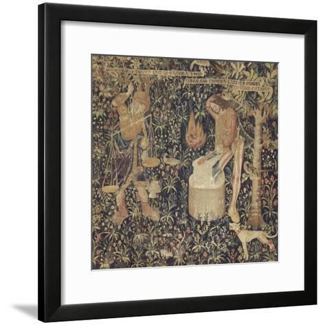 Tubalcaïn, l'invention de la pesée et de l'art de forger--Framed Art Print