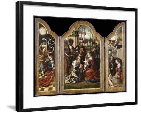 Triptyque de l'Adoration des mages-Pieter Coecke van Aelst-Framed Art Print