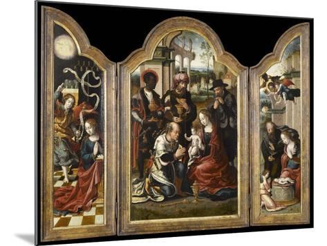 Triptyque de l'Adoration des mages-Pieter Coecke van Aelst-Mounted Giclee Print