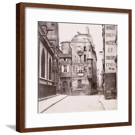 Tourelle derrière l'église Saint-Germain-l'Auxerrois, Paris-Charles Marville-Framed Art Print